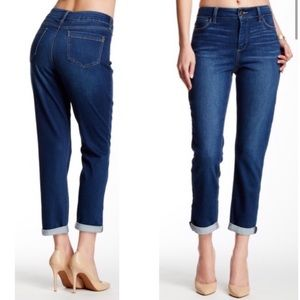 10 NYDJ Nichelle ankle roll up jeans blue color
